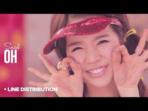 SNSD  Oh: Line Distribution