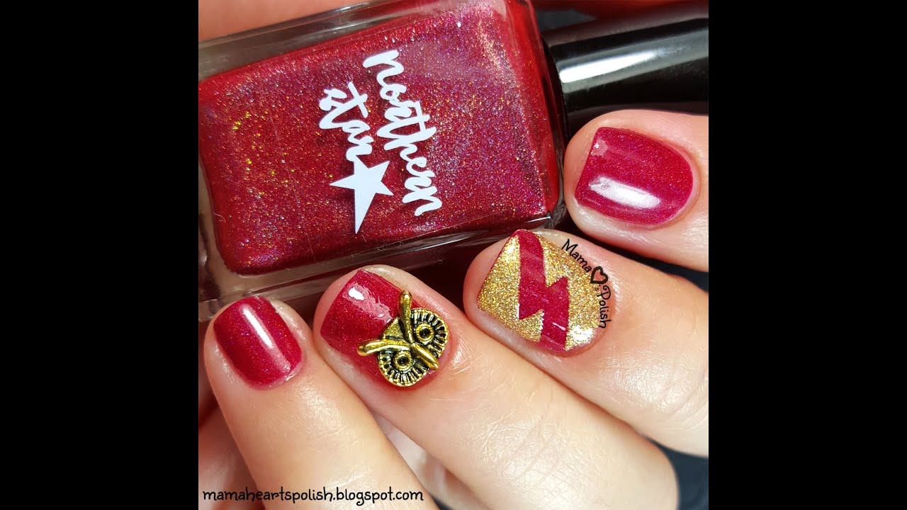 Northern Star Polish Harry Potter Inspired Nail Art - YouTube