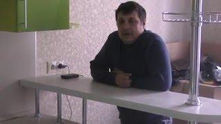 Кухня с барной стойкой в Островцах. В зеленых тонах.(консультации, заказать 8-925-303-40-76., 2016-04-21T14:41:56.000Z)