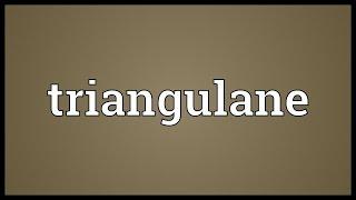 Triangulane Meaning