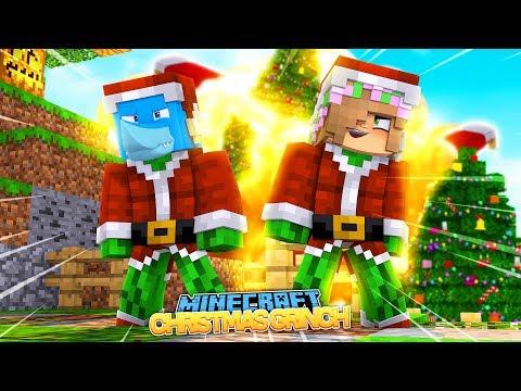 CHRISTMAS GRINCH CHALLENGE !! Minecraft w/ Sharky, Scuba Steve and Little Kelly