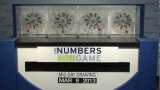 Midday Numbers Game Drawing: Saturday, March 9, 2013
