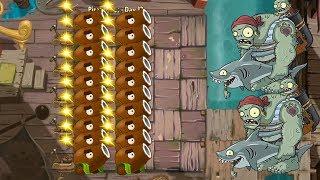 Plants vs Zombies 2 hack - Coconut Cannon vs all Zombies