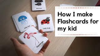 How to make flashcards for kids at home | DIY  easy and durable cards