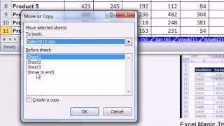 Excel Magic Trick 919: How Do I Copy An Excel Sheet? Copy or Move Worksheet Keyboard Shortcut