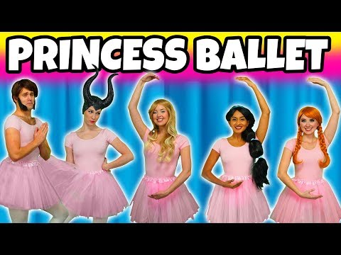 DISNEY PRINCESS BALLET DANCE. (Winter School Formal Ball with Jasmine, Aurora, Belle, Anna and Elsa)