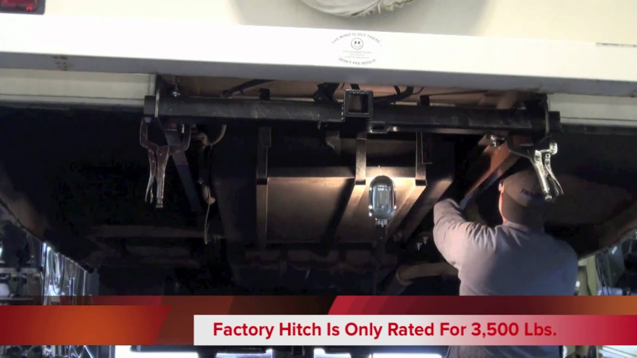 motorhome subframe beefup and hitch installation [ 1280 x 720 Pixel ]
