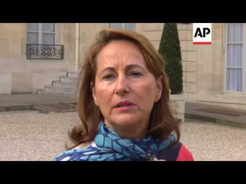 Macron and Royal on Le Roux resignation