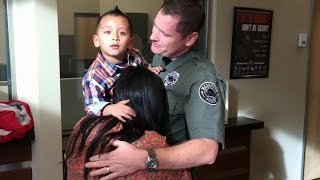 Officer's Rescue of Choking 3-Year-Old Caught on Video