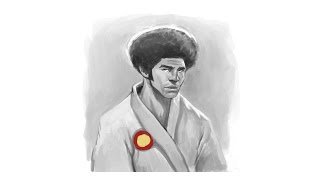 Jim Kelly Tribute - Speed Painting - Easy Things to Draw