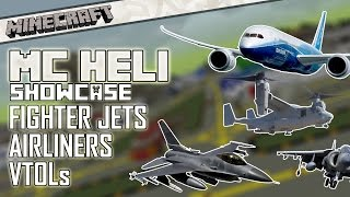 [1.7.10] Minecraft: VTOLs, Airliners & Fighter Jets! - MC Heli Mod Showcase