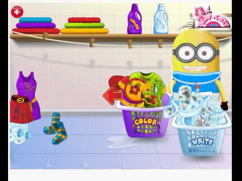 Baby minion washing clothes - 7k7k minon games!