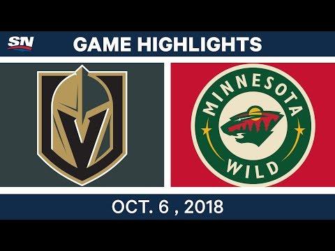 NHL Highlights | Golden Knights vs. Wild - Oct. 6, 2018