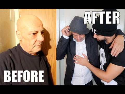 GIVING MY DAD AN EXTREME MAKEOVER!! (HE CRIED)