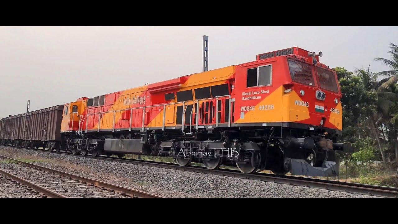 DIESEL TRAINS - powered by General Electric (GE) WDG4G, EMD WDG4 / WDP4D & ALCo WDM3A    Abhinav LHB