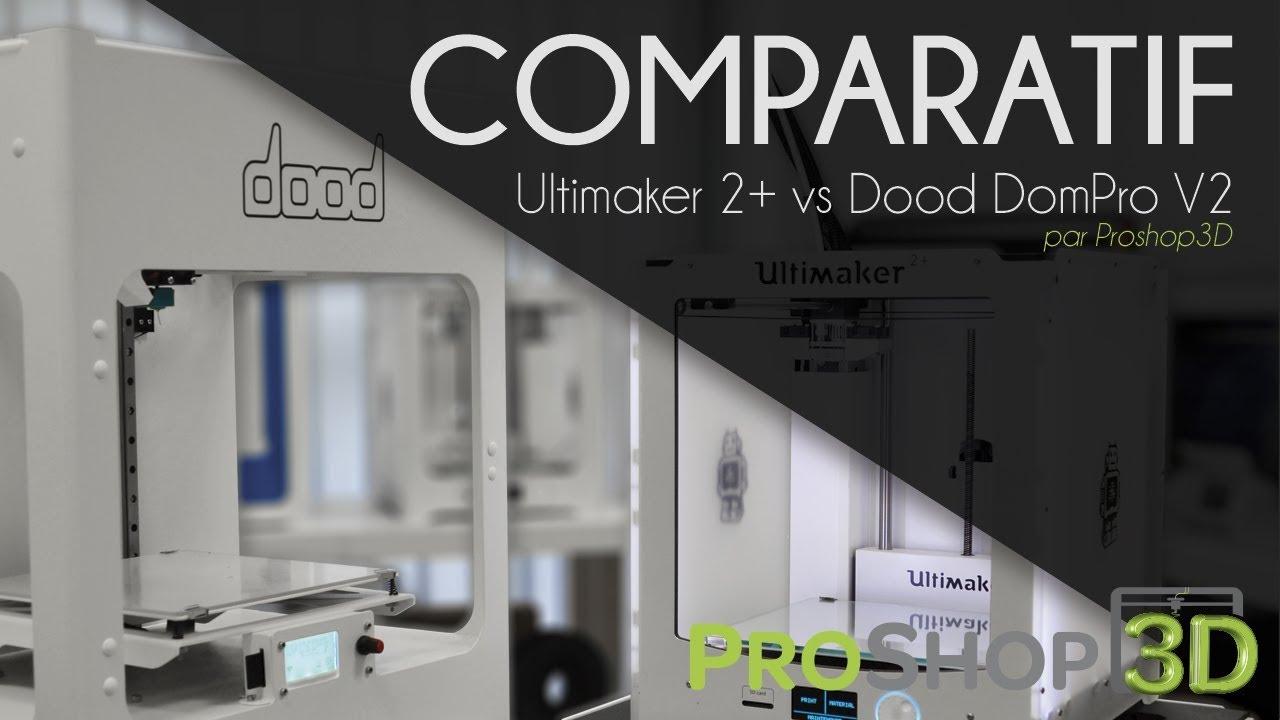 comparatif imprimante 3d ultimaker 2 et dood dompro v2 youtube. Black Bedroom Furniture Sets. Home Design Ideas