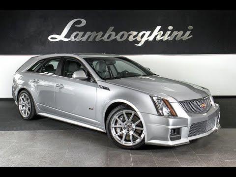 2011 Cadillac Cts V Sport Wagon Bright Silver Lt0675 Youtube