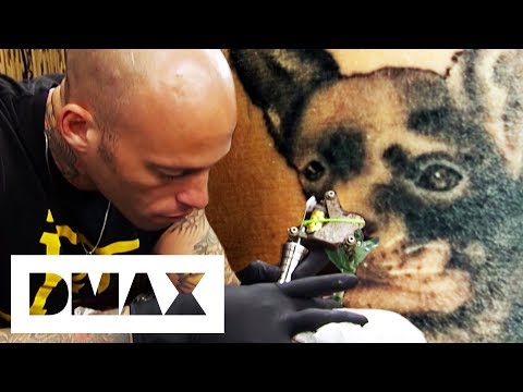 Ami James Tattoos A Meaningful Dog Portrait | Miami Ink