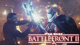 Star Wars Battlefront II: DLC Finn vs Phasma (Last Jedi FIGHT)