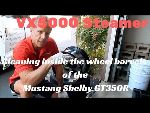 VX5000 Steamer: Detailing inside the wheel barrels of the Mustang Shelby GT350R