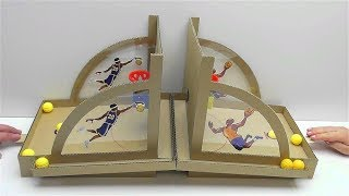 How to make Basketball Board Game from Cardboard DIY at Home