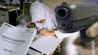 ruang kelas diberondong peluru saat un siswa smp di flores geger