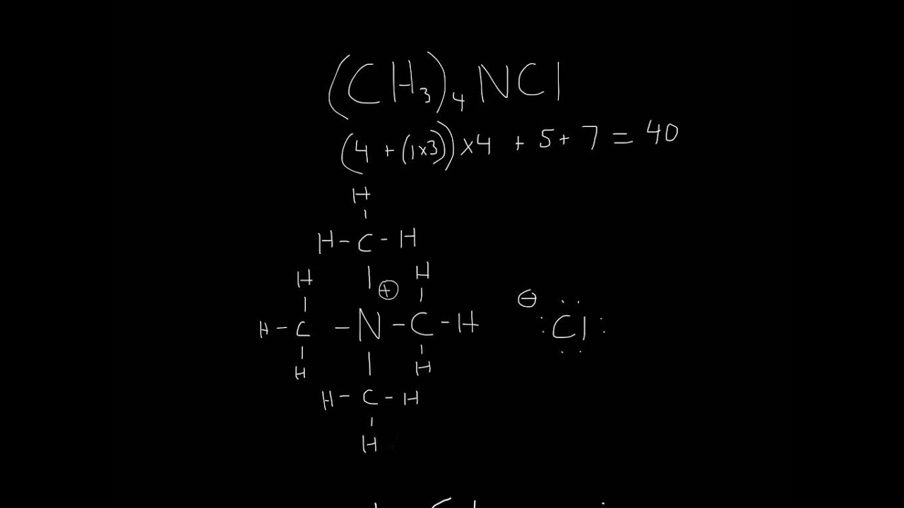 Ch3 Lewis Dot Structure: Lewis Structure (Ch3)4NCl