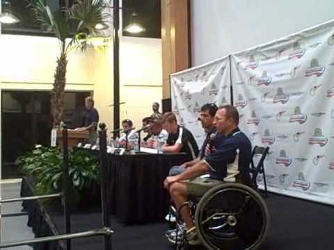 uspro press conf 2009 with us handcyclists.wmv