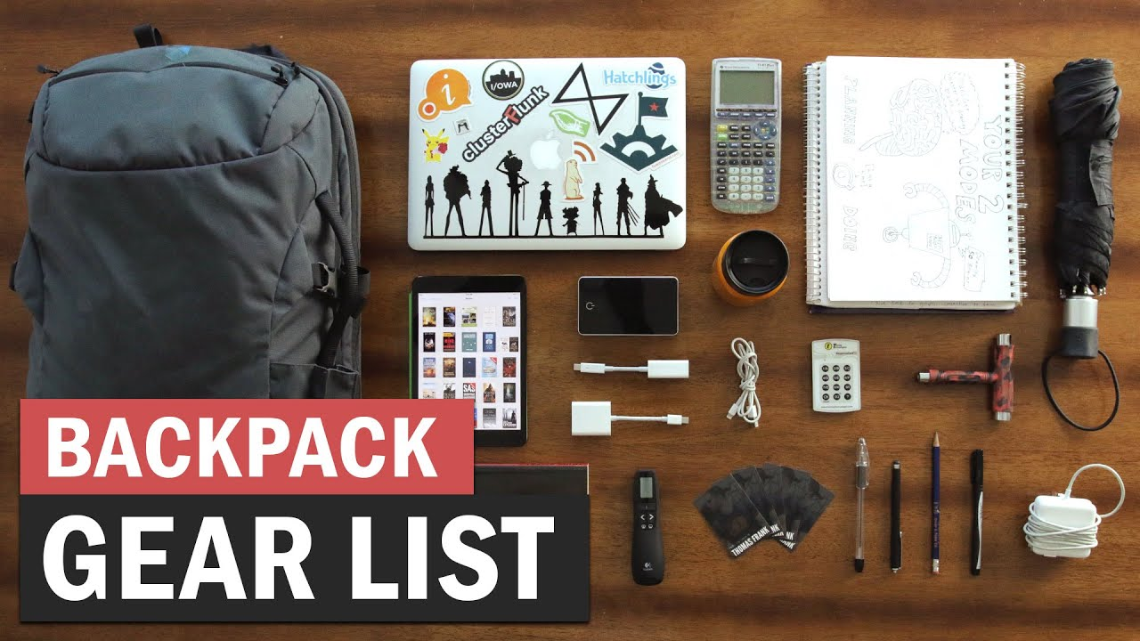 What's in My Backpack? - College Info Geek - YouTube