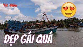 XEM TÀU CÁI KHỦNG QUAY ĐẦU TRÊN SÔNG CÁI BÉ _ WOODEN SHIP_Từ  Siêu Ghe Cào