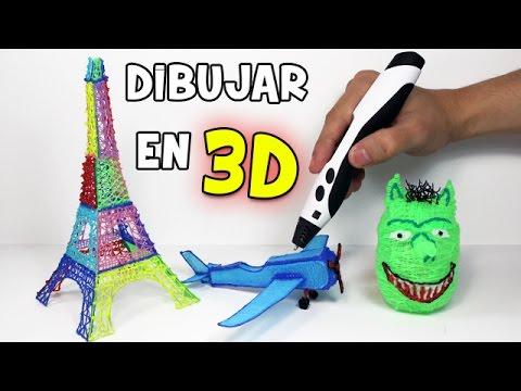 Como dibujar en 3d con un l piz 3d impresora 3d youtube for Dibujar un mueble en 3d