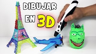 Como dibujar en 3D con un Lápiz 3D | Impresora 3D