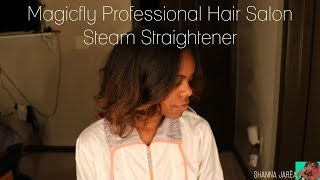 Magicfly Steam Straightener Review & Demo | 4a 4b 4c  Natural Hair Shanna Jarea