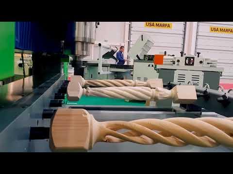 Strung CNC pentru Sculptura   Rotary 8H-1500   Wood IQ
