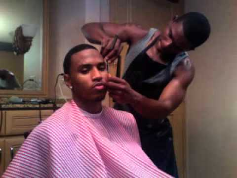 Trey Songz getting Haircut - YouTube