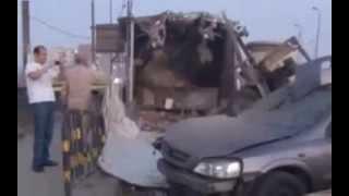 بالفيديو انفجار قنبلة بكمين أعلى كوبري مسطرد