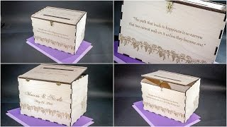 Wedding Card or Money Box for Marcus + Nicole