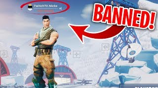 I played Fortnite on my BANNED Account at 2am... (bad idea)