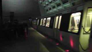 Washington Metro Trains at Farragut North