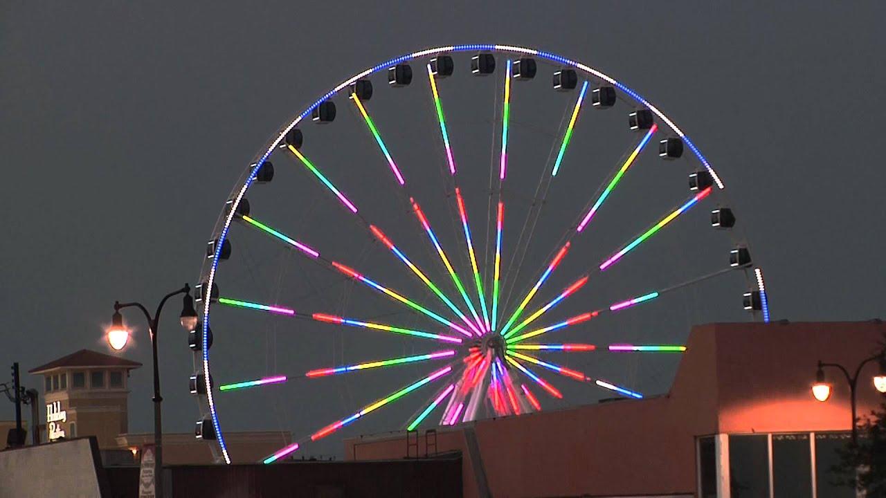 Myrtle Beach Sc Skywheel At Twilight