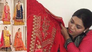 Designer Plazzo Salwar Kameez ll Online Shop ll Embroidered ll 13 March 2018