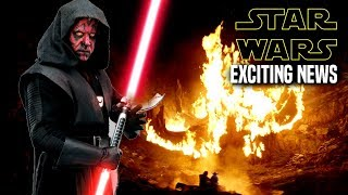 Star Wars! Exciting News Of Darth Maul & More! (Star Wars News)