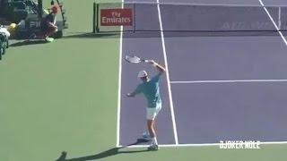Novak Djokovic Smashes Racket Against Kyrgios - IW 2017 (HD)