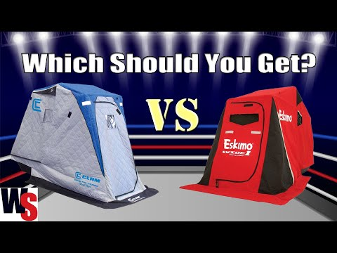 Which Should You Get? Comparing Ice Shelters: The Eskimo Wide 1 Inferno VS Clam Kenai Pro Thermal