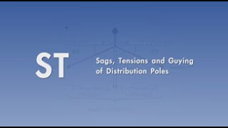 Sags, Tensions and Guying of Distribution Poles