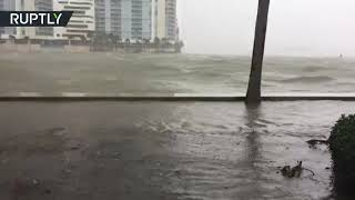 Floodwaters surge into Miami as Hurricane Irma hits Florida