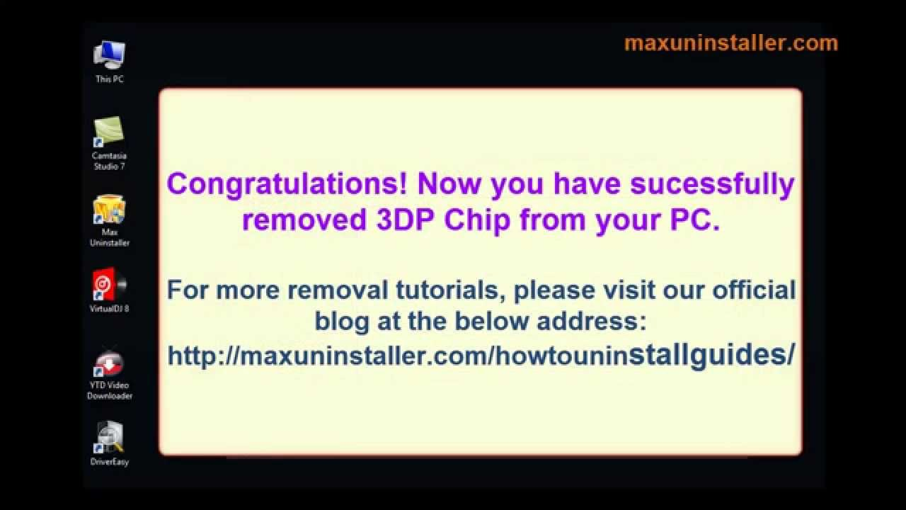 3DP Chip Removal Guide - How to Uninstall 3DP Chip Completely
