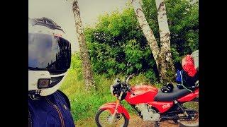Мотоцикл, лето, выходные. 400км за день на китайской 125тке. Ночь на озере. Стоило того?