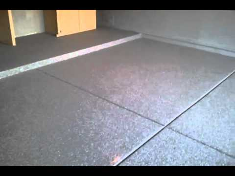 Paint Chip Epoxy Garage Floor Coating Charcoal Color In Maracopa Arizona    YouTube