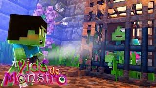 MINECRAFT : VIDA DE MONSTROS - SALVEI MINHA MÃE !!! #9